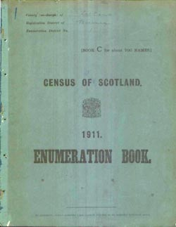 Image of a 1911 census enumeration book cover
