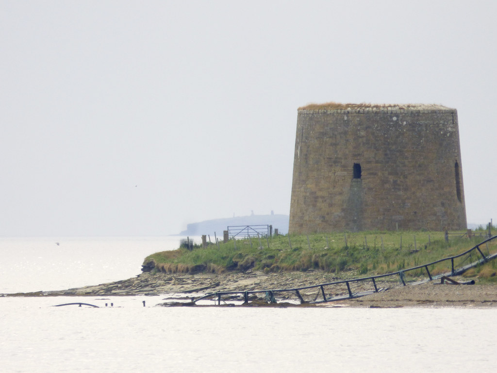 Crockness Martello tower overlooking Longhope Sound. Photo credit ukdamian at Flickr