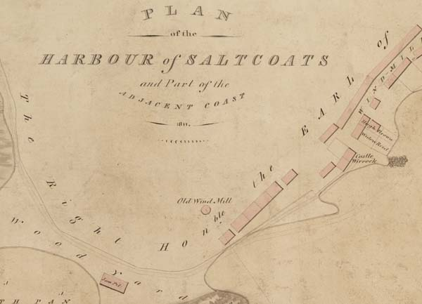 An example of the types of plans you can discover through the cataglogue. This image shows a detail from a plan of the harbour of Saltcoats and part of the adjacent coast, Ayrshire, 1811. It is available to view on https://www.scotlandspeople.gov.uk/maps-and-plans. National Records of Scotland, Crown copyright, RHP55.