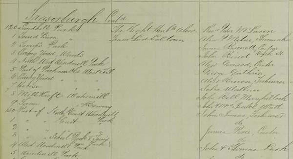National Records of Scotland, Crown copyright, Valuation Roll, 1875, Fraserburgh, VR87/62 page 6.