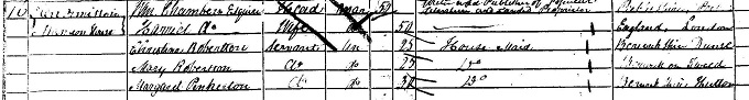 1851 census return for William Chambers