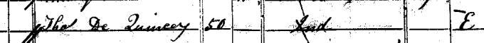 1841 census entry for Thomas De Quincey