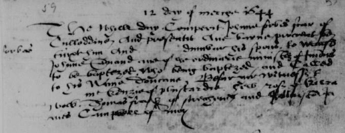 Baptism entry for Duncan Forbes of Culloden