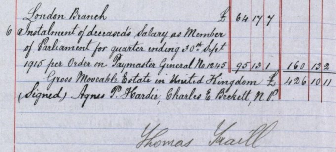 Inventory of Keir Hardie's estate, part two