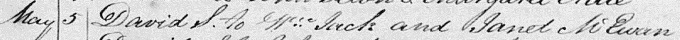 "Baptism entry for David ""Monterey"" Jack"