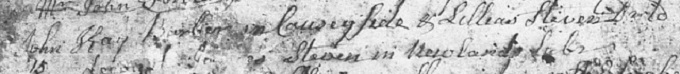 Marriage entry for John Kay 1765