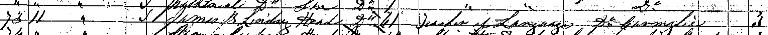 1861 census entry for James Bowman Lindsay