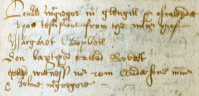 Baptism entry for Rob Roy MacGregor
