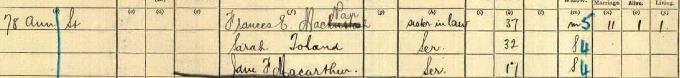 1911 census record for Charles Rennie Mackintosh - page 15