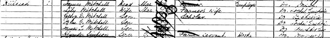 1901 census record for James Leslie Mitchell