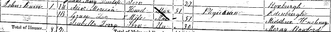 1861 census return for Alexander Morison