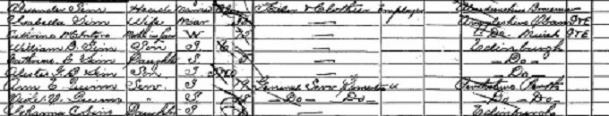 1901 census return for Alastair Sim