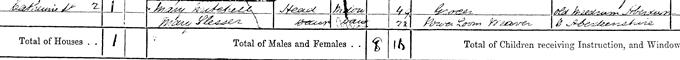 1871 census return for Mary Slessor, page 14