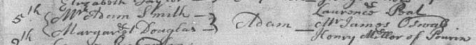 Baptism entry for Adam Smith