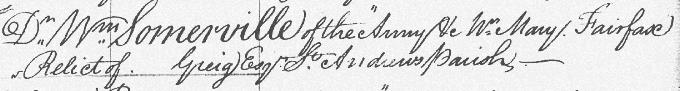 Marriage entry for Mary Somerville
