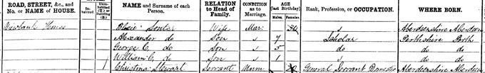 1881 census return for William Clark Souter