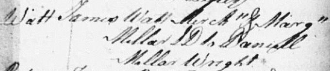 Marriage entry for James Watt - Glasgow
