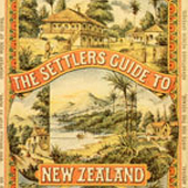Image of the cover of 'The Settlers Guide to New Zealand' by George Vesey Stewart, 1886-1888 (Crown Copyright, National Records of Scotland, AF51/158)