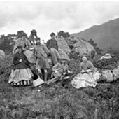 Photograph of a picnic party at Elleric in Glen Creran, 1866 (Crown Copyright, National Records of Scotland,GD1/1208/1/13)