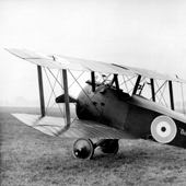 Photograph of Sopwith Camel, 'Dunning' (E4374), named after the parish which raised the money for its purchase as part of a Scottish War Savings Committee campaign, APril 1918 (Crown Copyright, National Records of Scotland, NSC1/393/13)