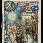 Image of a christmas card of the Cameron Highlanders, 1918 (Crown Copyright, National Records of Scotland, GD1/625/3)