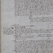 Image of a justiciary court record of accidental death of a speactator at Kelso, who was struck near the ear by a stray golf ball and subsequently died from his injuries, 1632 (Crown Copyright, National Records of Scotland, JC2/7)