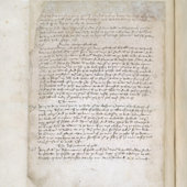 Image of James II's Act of Parliament of Scotland banning both football and golf. The first known written reference to the game of golf in Scotland, 1457 (Crown Copyright, National Records of Scotland, PA5/6)