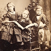 Photograph of a Victorian carte de visite, portrait photograph of the Baring children, little boy in kilt, not dated (Crown Copyright, National Records of Scotland, GD268/1045/15b)