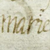 Image of Mary, Queen of Scots' signature, from a letter dated about 1550