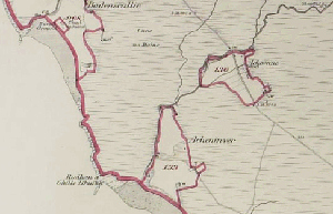 Section of Lochbroom Parish, Ross and Cromarty, as mapped by IRS Surveyors, showing delineations of separate crofts (National Records of Scotland, IRS126/16).