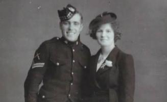 Photograph of a couple married in 1941