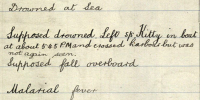 Image of a marine death record