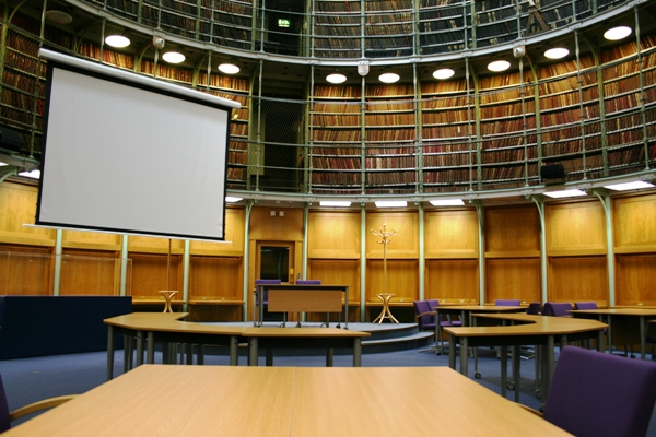 New Register House Dome Seminar Facility with screen and tables