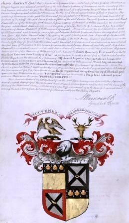 Example of a record relating to a Coat of Arms