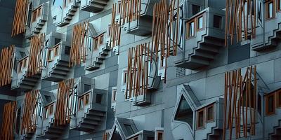 Image of exterior Scottish Parliament building