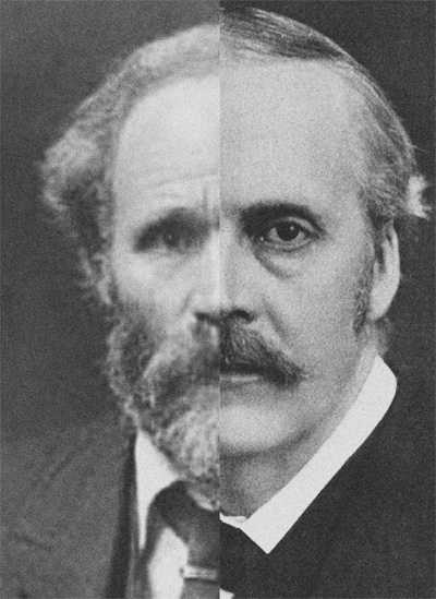 Image of AJ Balfour and James Keir Hardie's faces