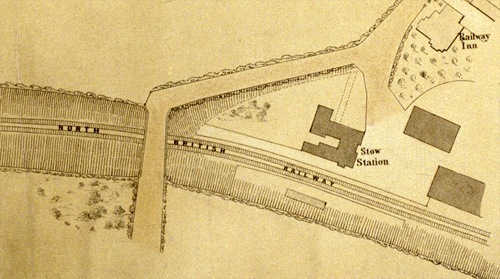 Plan of the village of Stow, Midlothian, 1862, National Records of Scotland RHP23083 (detail).
