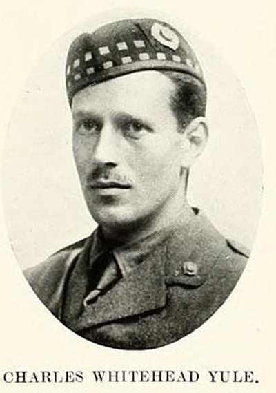 Photograph of Charles W Yule as second lieutenant, circa 1915, University of St Andrews