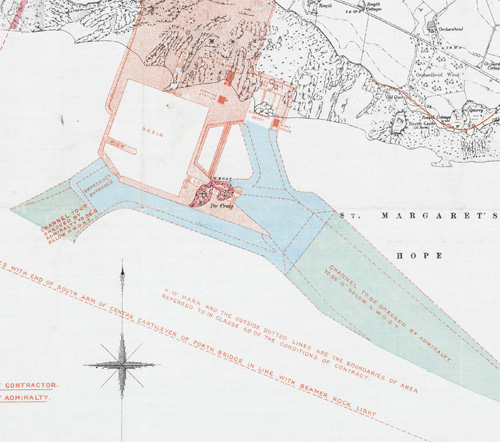 Plan of dredging preparations for Rosyth, 1910, National Records of Scotland, RHP14500/13/1250/1