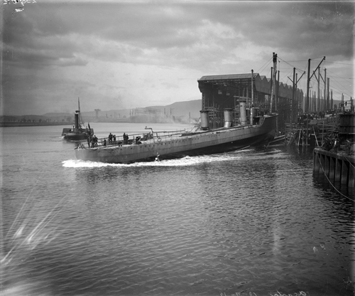 Launch of HMS Acasta, 1912, National Records of Scotland, UCS1/118/412/1