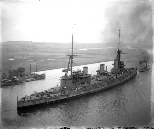 The battlecruiser New Zealand on the Clyde, 1912, National Records of Scotland, UCS1/118/GEN/251/1