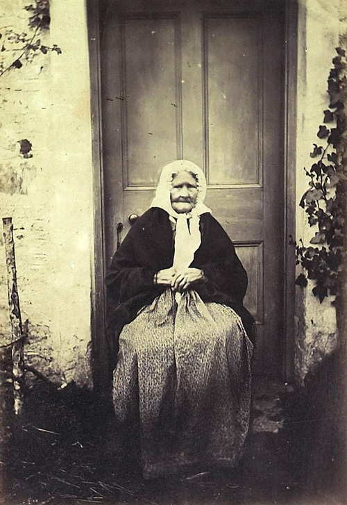 Photograph of Mrs McDonald, a midwife in Invercreran, c1866, (National Records of Scotland, GD1/1208/1/52)