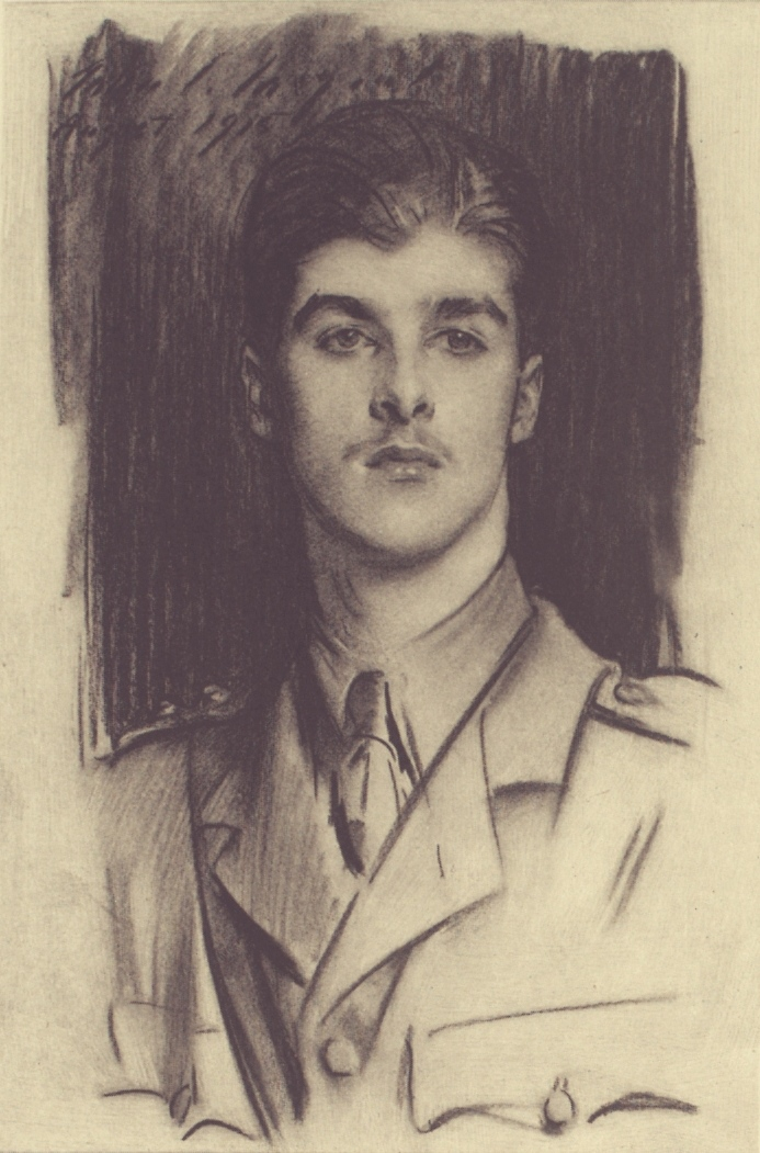 Portrait of E W Tennant by John Singer Sargent 1915