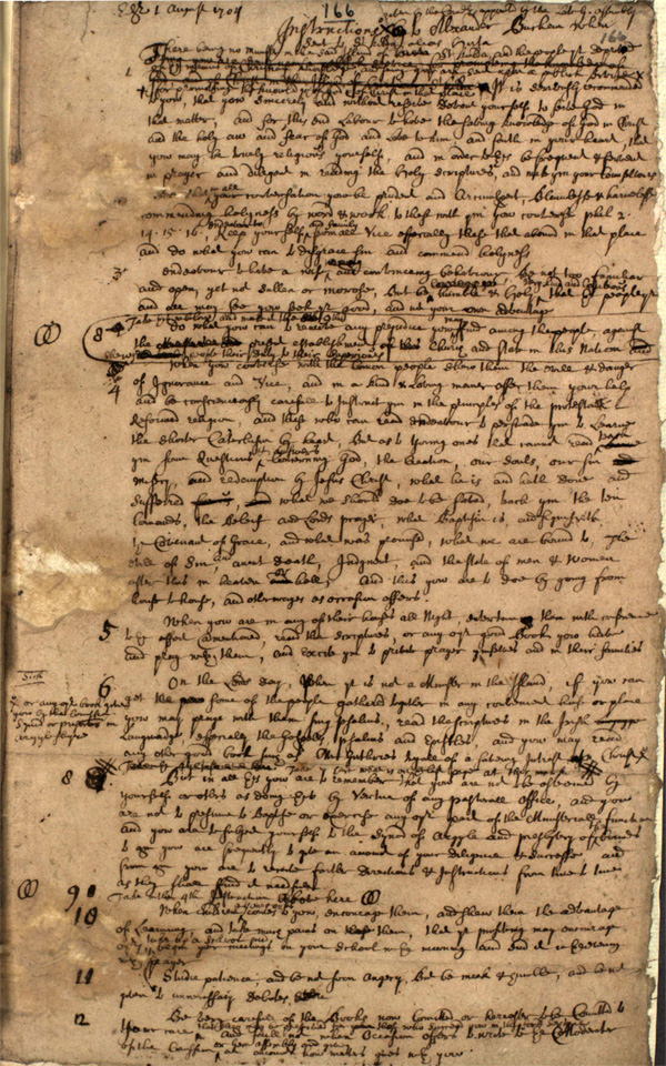 Instructions for Alexander Buchan, 1704 (National Records of Scotland, CH1/2/4/2)
