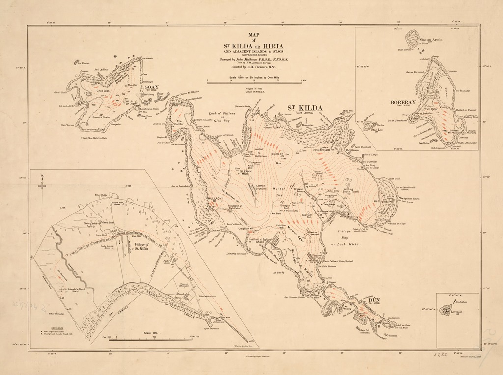 Ordnance Survey Map of St Kilda, 1928 (National Records of Scotland, RHP5282)