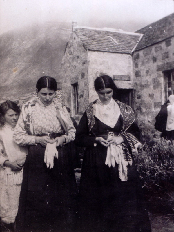 Christina McQueen outside the factor's house, c1913 (National Records of Scotland, GD1/713/1)