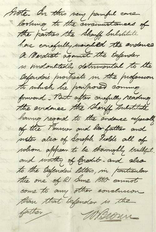Detail of Sheriff court case, 1881 (National Records of Scotland, SC58/22/630)