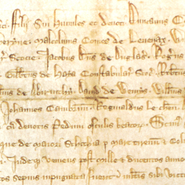 Image of Detail of the Declaration of Arbroath