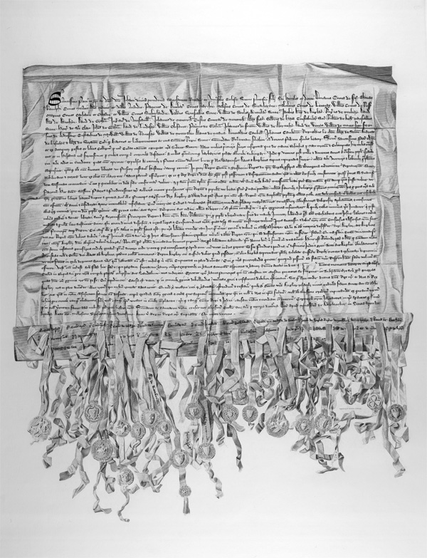 Image of the facsimile engraving of the Declaration by W & D Lizars