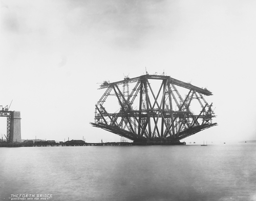 Image of Forth Rail Bridge under construction, National Records of Scotland BR-FOR-4-34-41